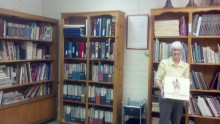 Janice Johnson is our archivist/historian and organized our library