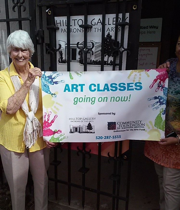 Gallery artist Janice Johnson and volunteer ready for Fall art classes. The schedule will be announced soon.