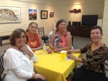 Our leading women's artists include, from left: Pamela Wedemeyer, Anne Jehle, Virginia Vovchuk and Faith Posey