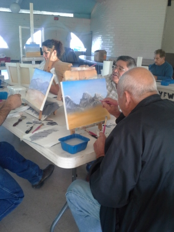 Veterans enjoy creating art