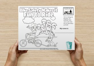 Kids coloring projectfo r Nogals Bike Classic March 25