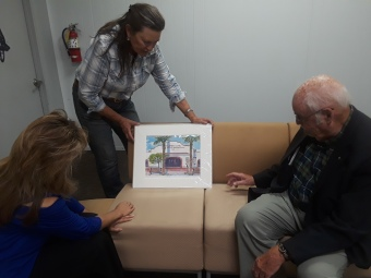 Selecting art for the new Pima College walls!
